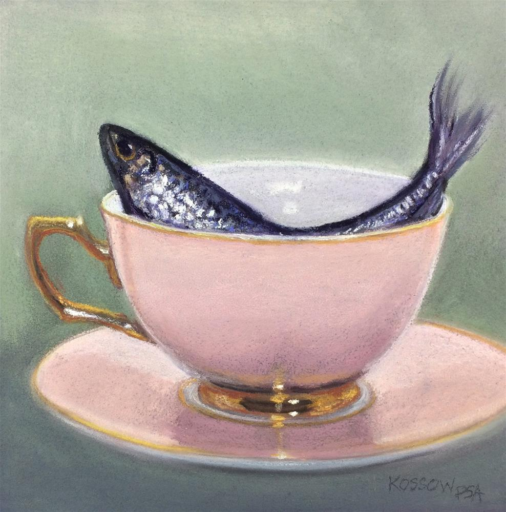 """Tempest in a Teacup"" original fine art by Cristine Kossow"