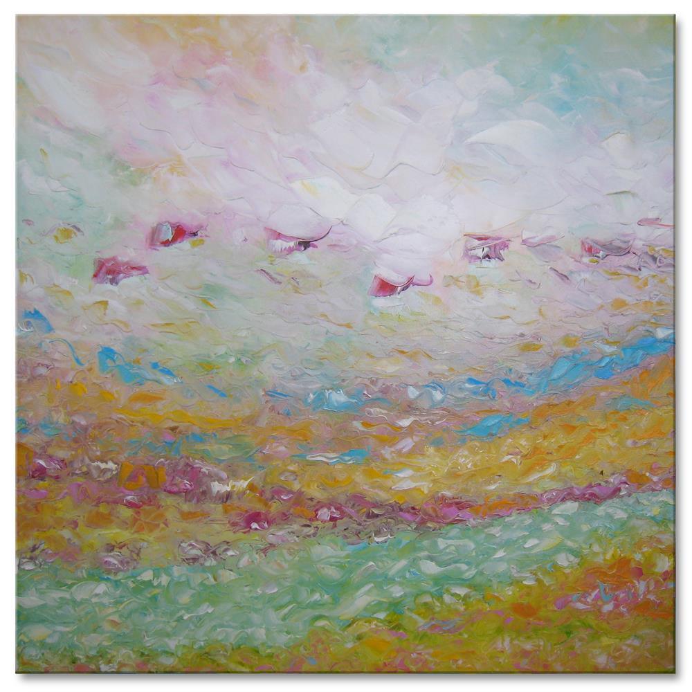 """Pink fog"" original fine art by Elena Lunetskaya"