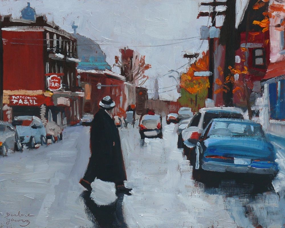 """Rue St Viateur"" original fine art by Darlene Young"