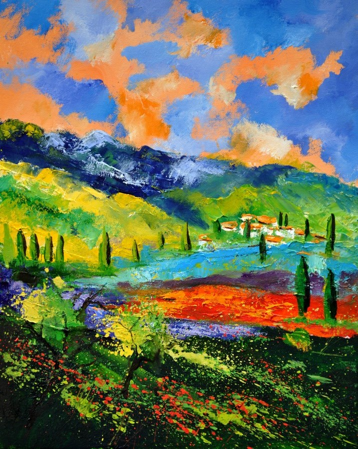 """Provence 454190"" original fine art by Pol Ledent"