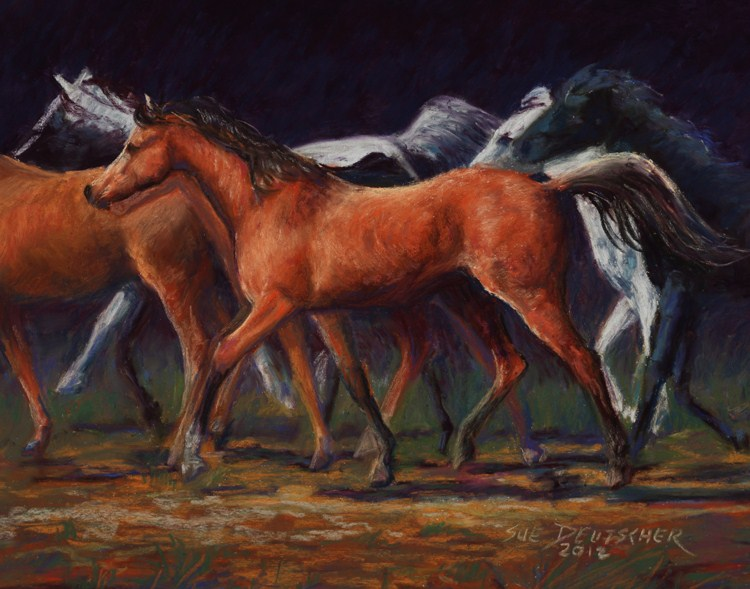 """Horses"" original fine art by Sue Deutscher"