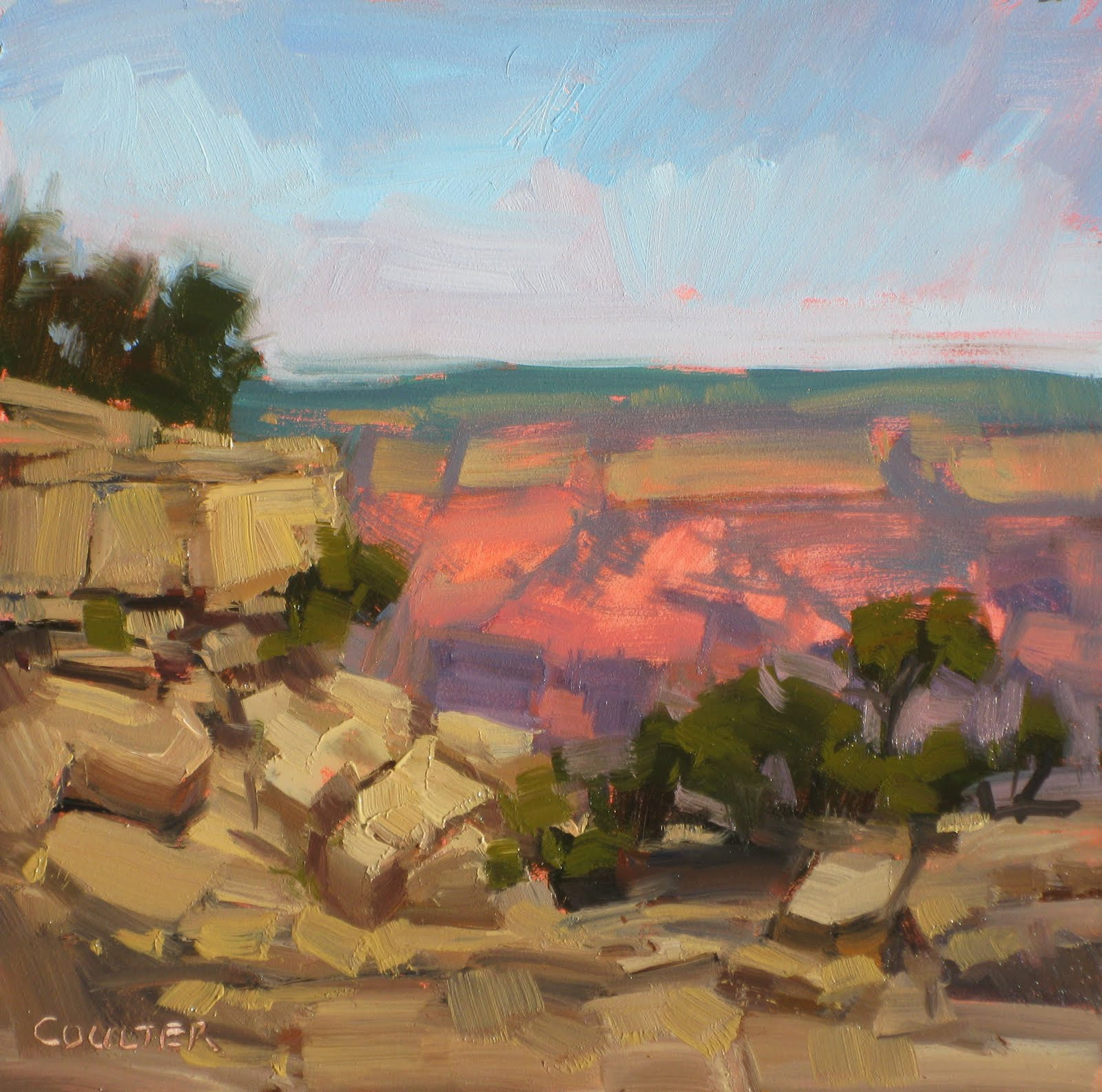 """CANYON MORNING"" original fine art by James Coulter"