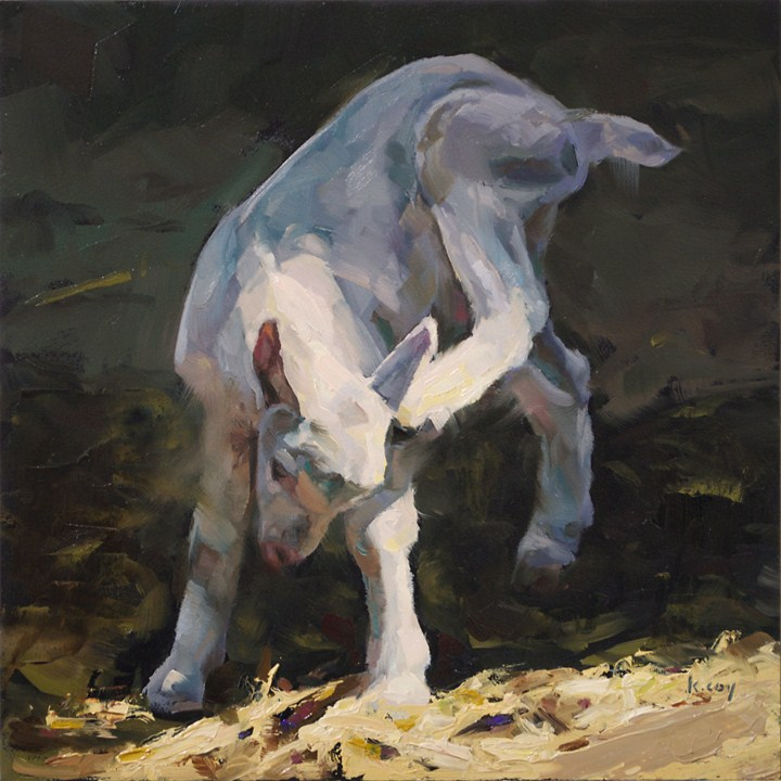 """Goat Itch"" original fine art by Kathleen Coy"