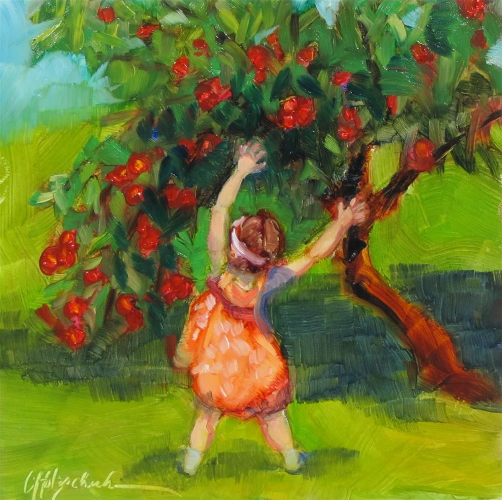 """Dancing With the Apple Trees"" original fine art by Christine Holzschuh"