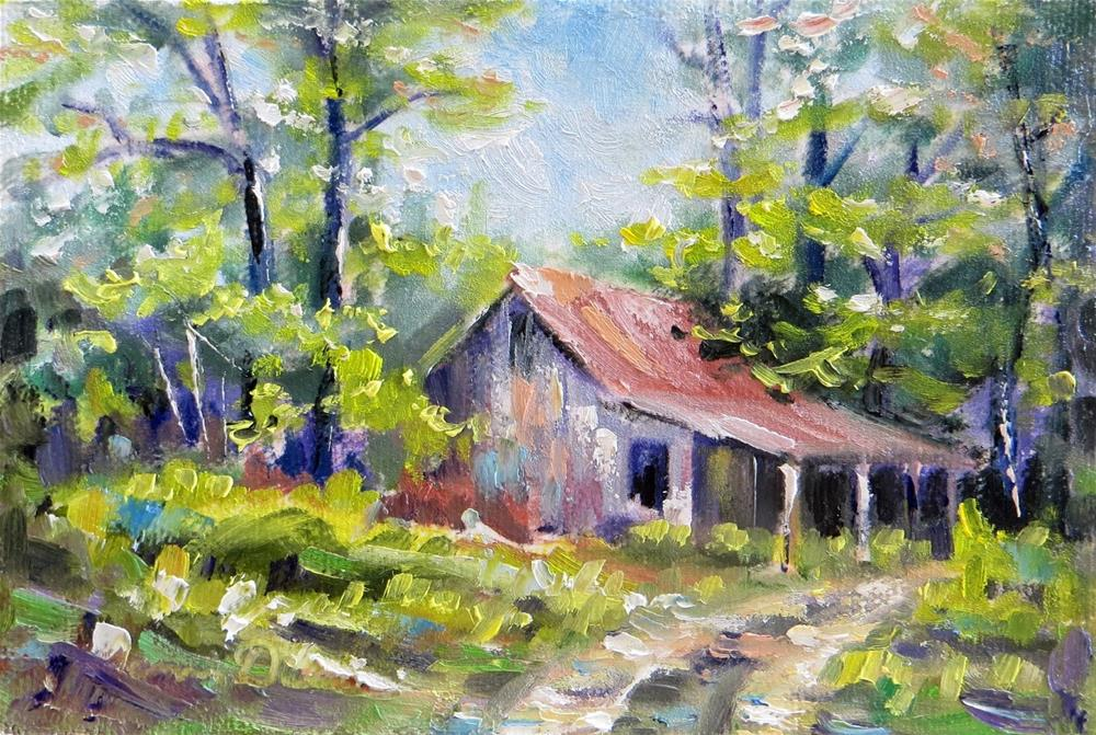 """Old Barn on Church Road"" original fine art by Tammie Dickerson"