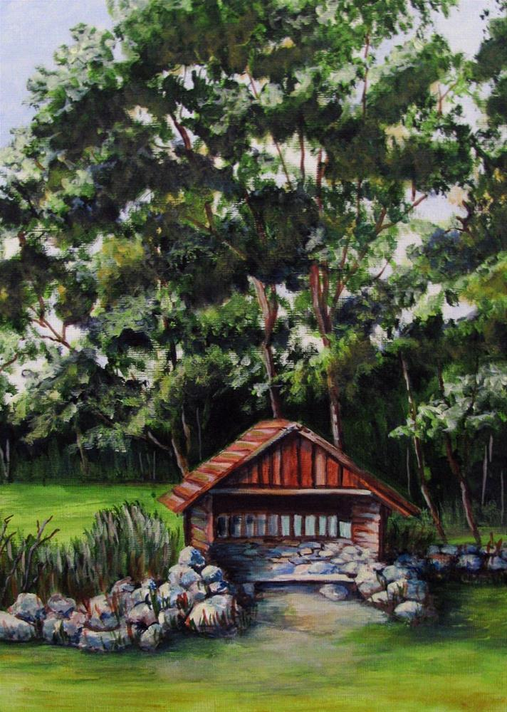 """Estonia Mailbox Shed"" original fine art by Nan Johnson"