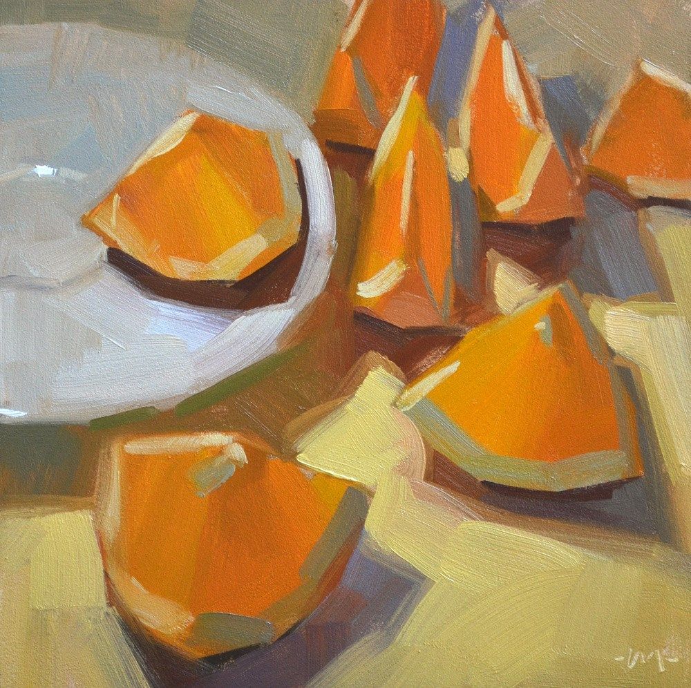 """Sliced Not Diced"" original fine art by Carol Marine"