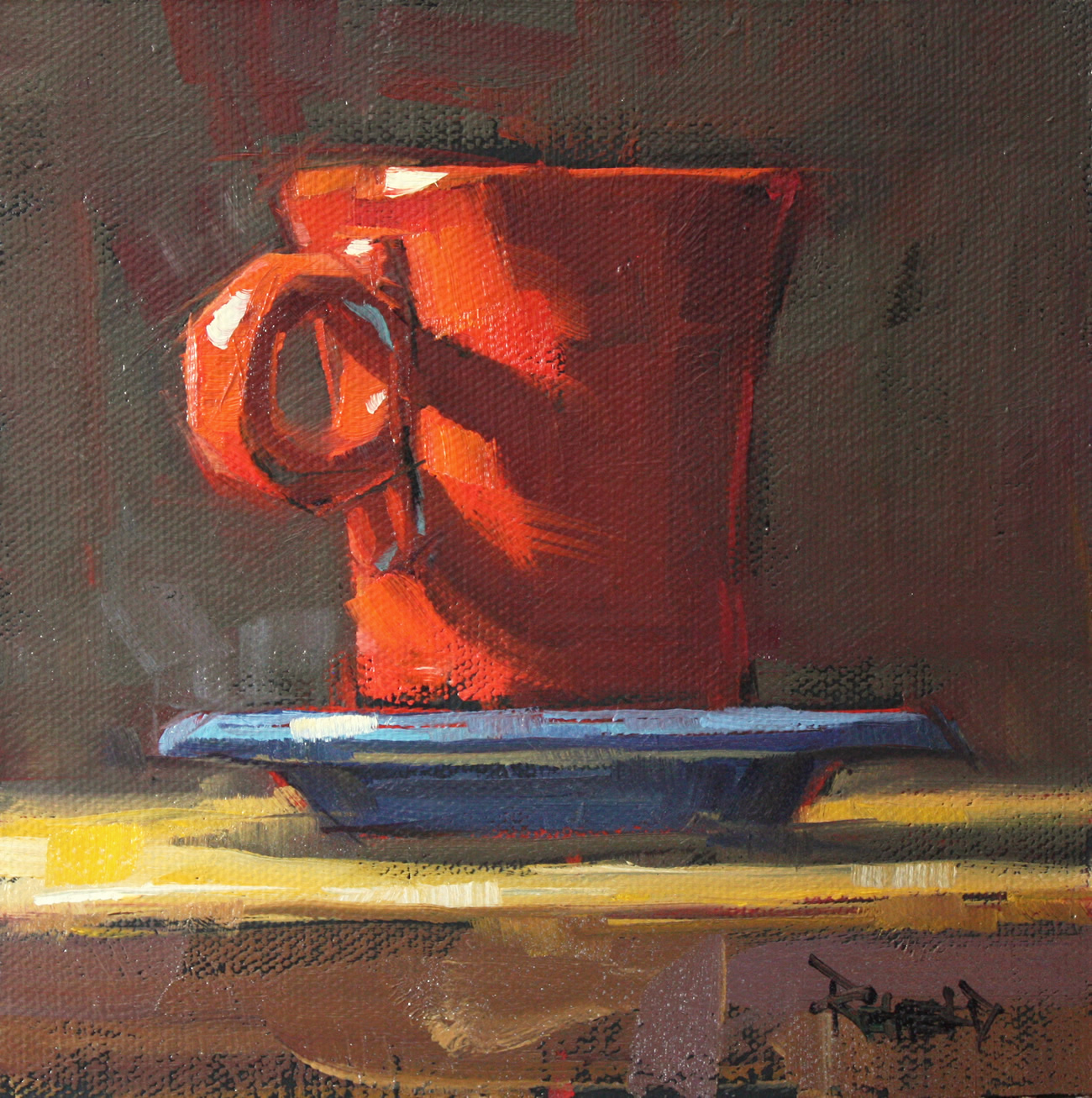 """Hot Chocolate"" original fine art by Cathleen Rehfeld"