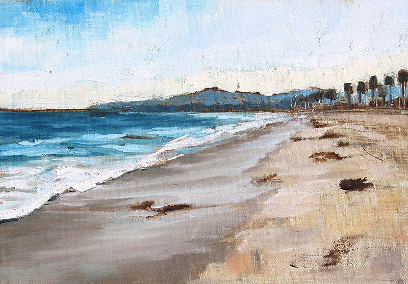 """Sunset Walk on the Beach"" original fine art by Kevin Inman"