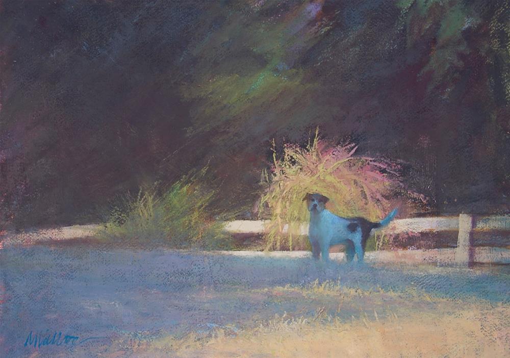 """#105 Morning fireworks"" original fine art by Nancy Wallace"