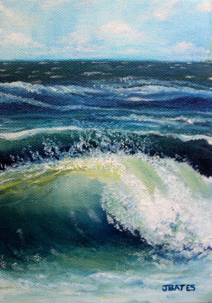 """'Sconset Surf"" original fine art by Jill Bates"