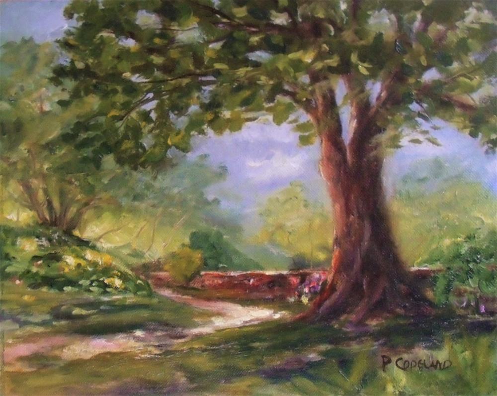 """In the Shade"" original fine art by Pamela H. Copeland"