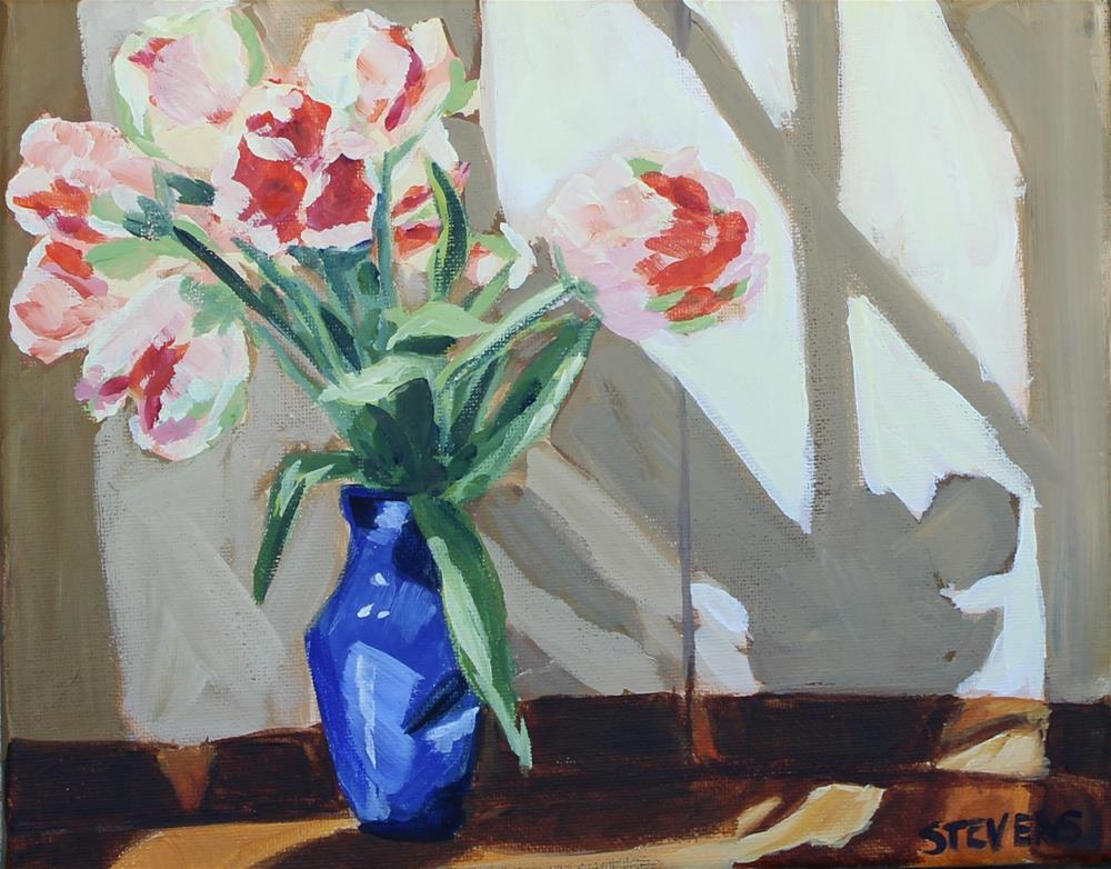 """Parrot Tulips"" original fine art by Jamie Stevens"