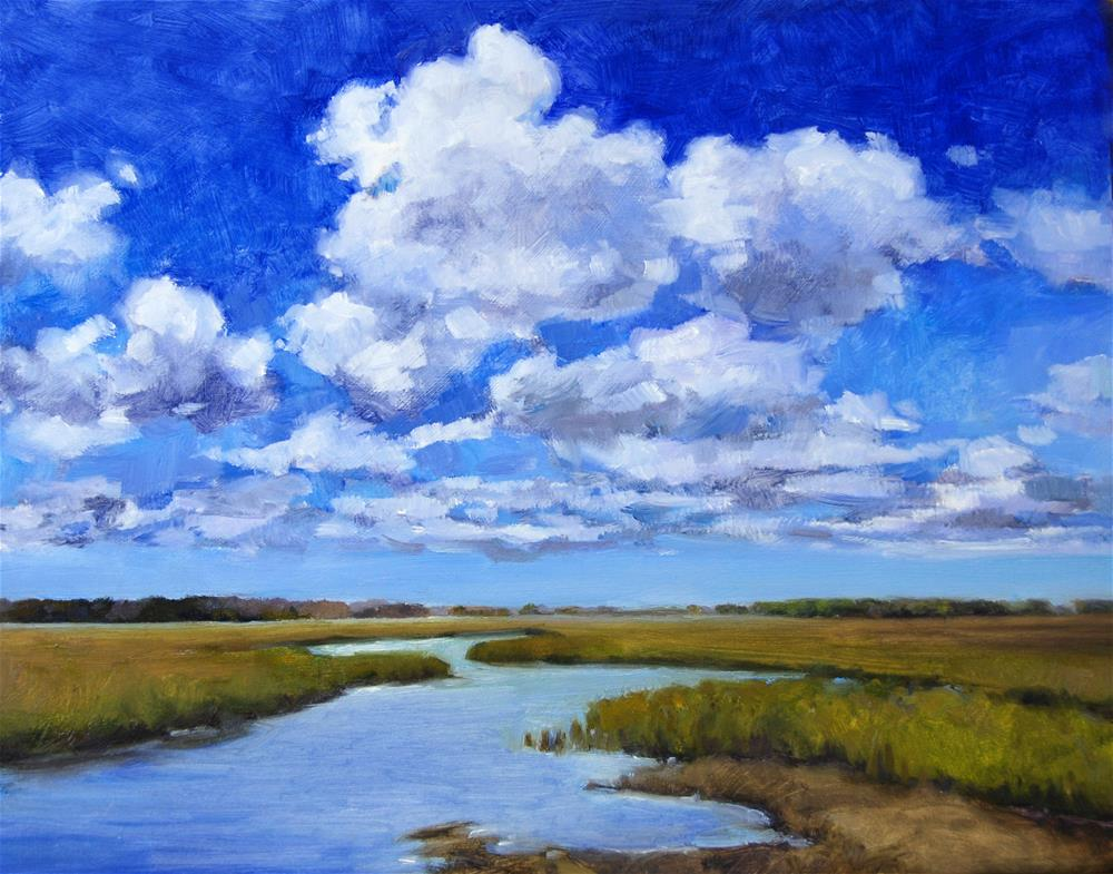 """Clouds on the Marsh"" original fine art by Michel McNinch"