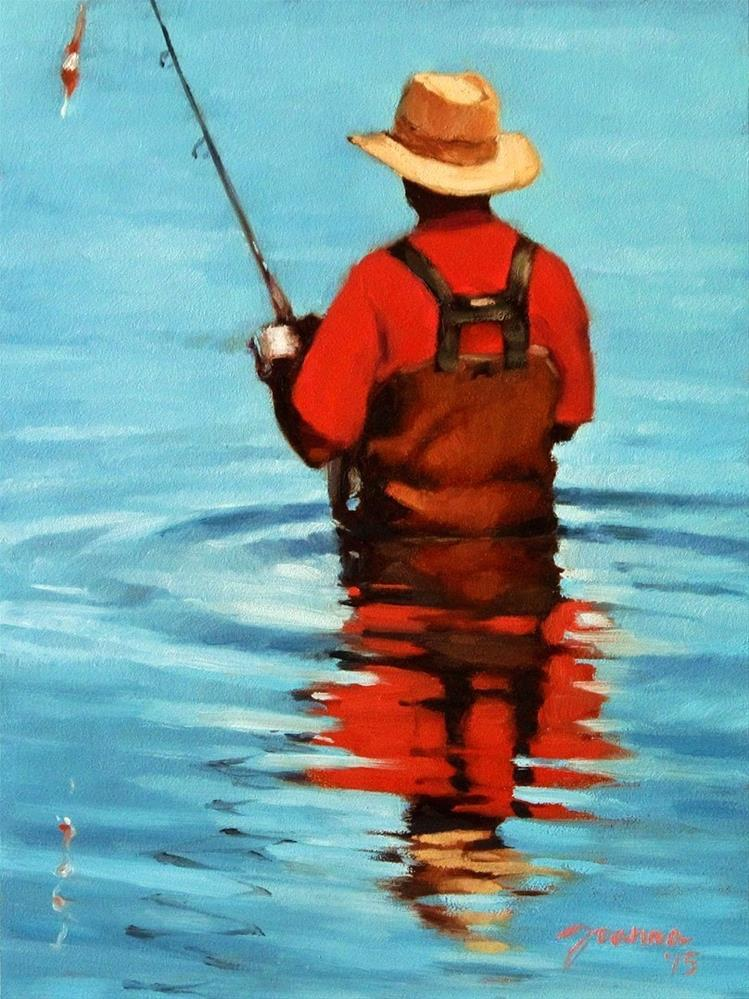 """Here Fishy Fishy -- DPW 'The Reflections Challenge'"" original fine art by Joanna Bingham"