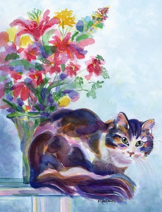 """Perfect Pose"" original fine art by Pamela Gatens"