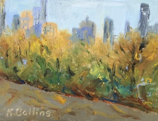 """""""Central Park View"""" original fine art by Kathy Collins"""
