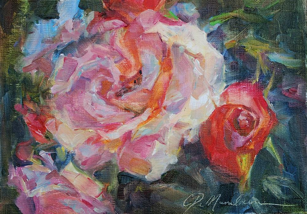 """Everthing is Coming Up Roses"" original fine art by Carol DeMumbrum"