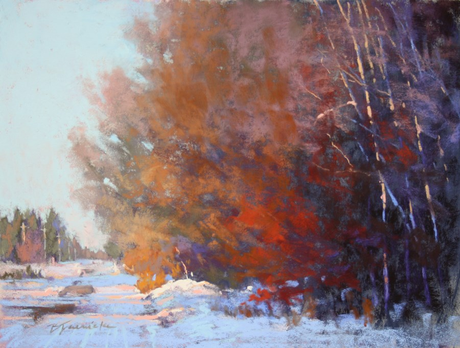 """Winter's Harmony (pastel)"" original fine art by Barbara Jaenicke"