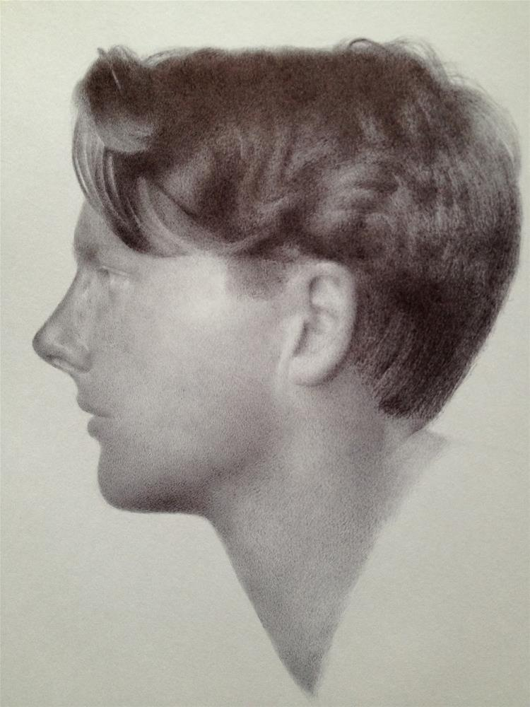 """""""Rupert Brooke"""" original fine art by Jonathan Aller"""
