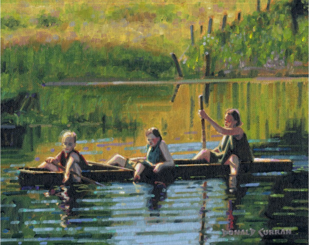 """Lazy Afternoon"" original fine art by Donald Curran"