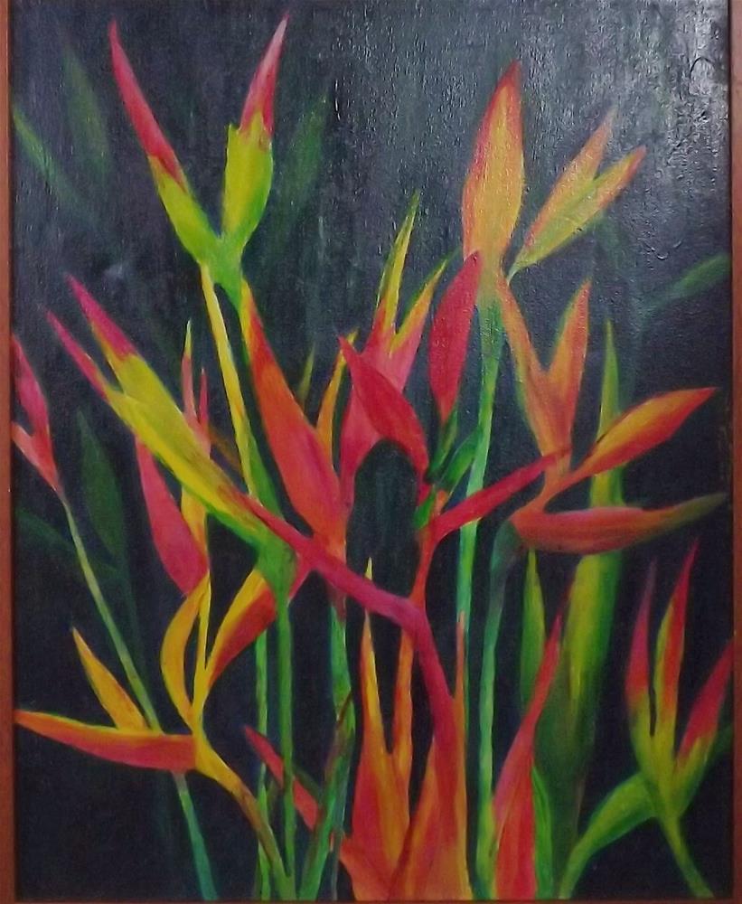 """Maui Tropical flowers"" original fine art by Elizabeth Current"