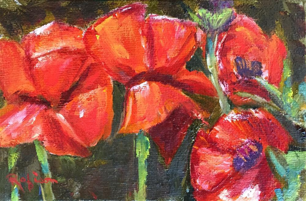 """Poppies"" original fine art by Renee Robison"