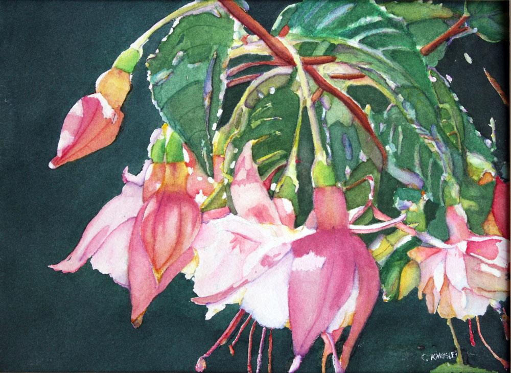 """""""Garden Ballerinas"""" original fine art by Christiane Kingsley"""