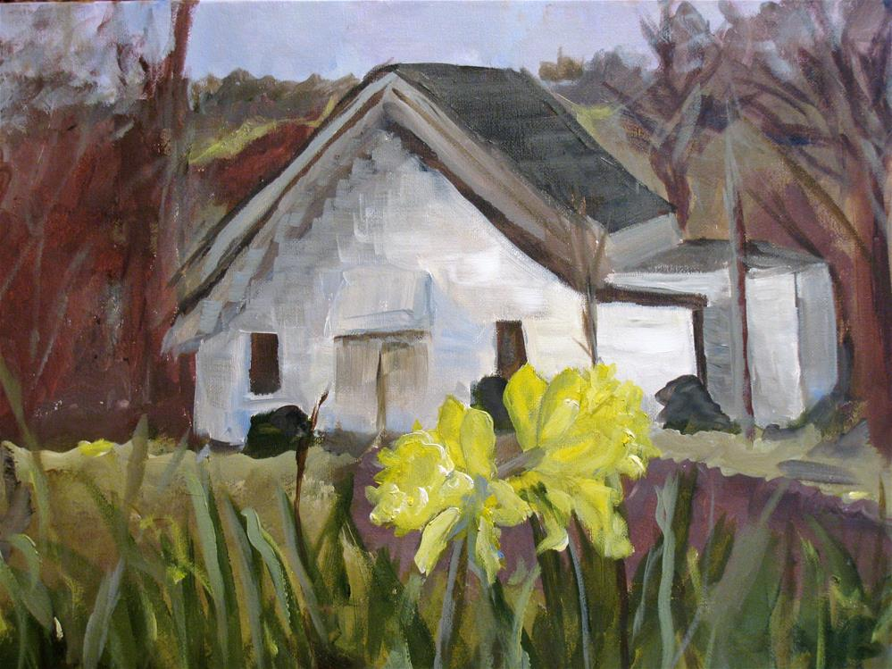 """Robertson Fork Church"" original fine art by Susan Elizabeth Jones"