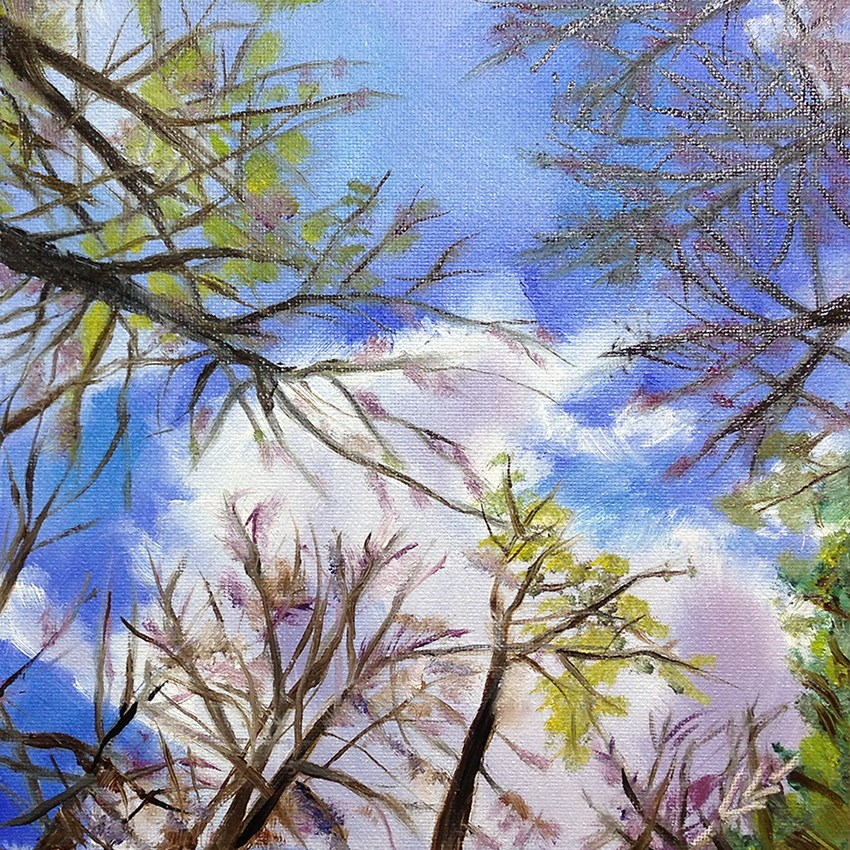 """Look Up"" original fine art by Linda Lowery"