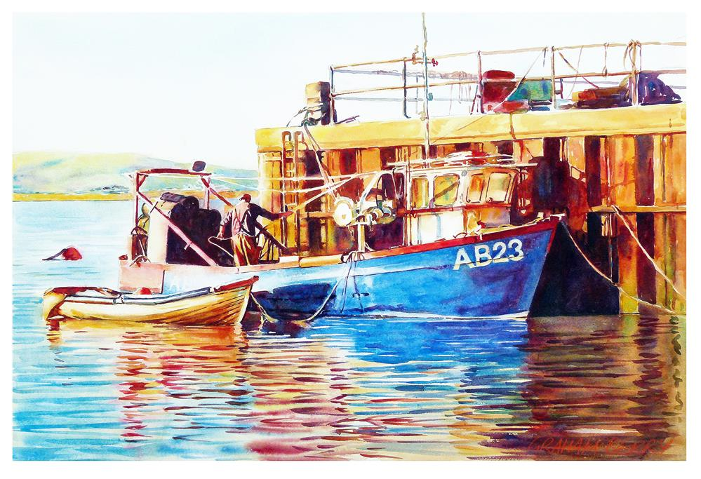 """Loading the pots"" original fine art by Graham Berry"