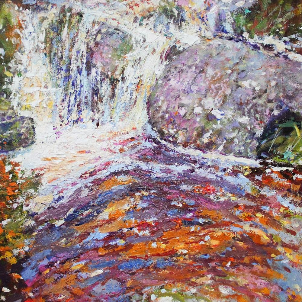 """Rock Pool 30 paintings in 30 days. Day 5."" original fine art by Ken Devine"