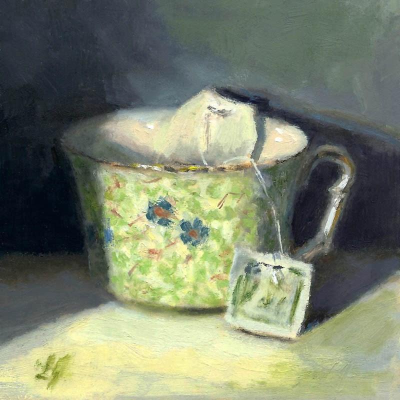 """A Spot of Tea"" original fine art by Linda Jacobus"