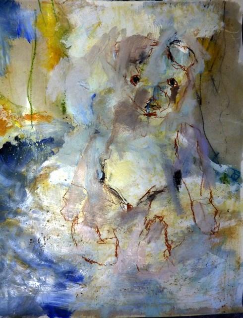 """""""Teddybär"""" original fine art by Mila Plaickner"""
