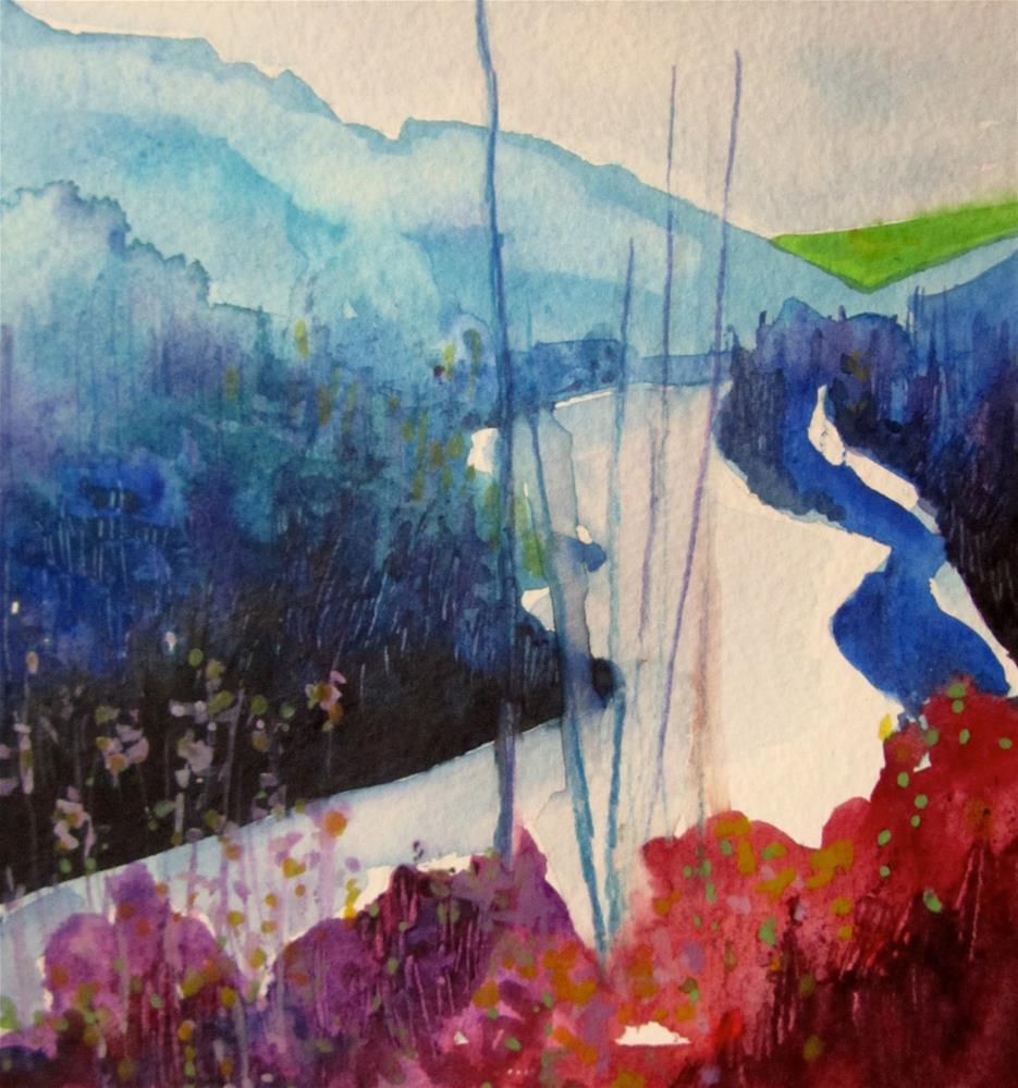 """""""North Thompson River, #2"""" original fine art by Patricia MacDonald"""