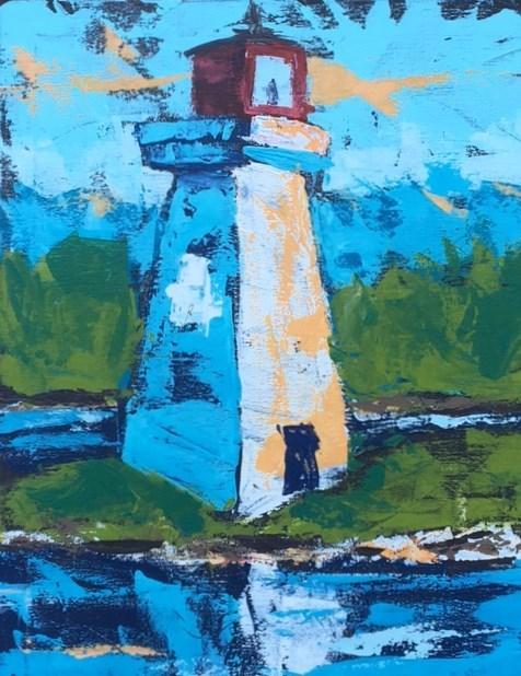 """Lighthouse"" original fine art by Susan Elizabeth Jones"