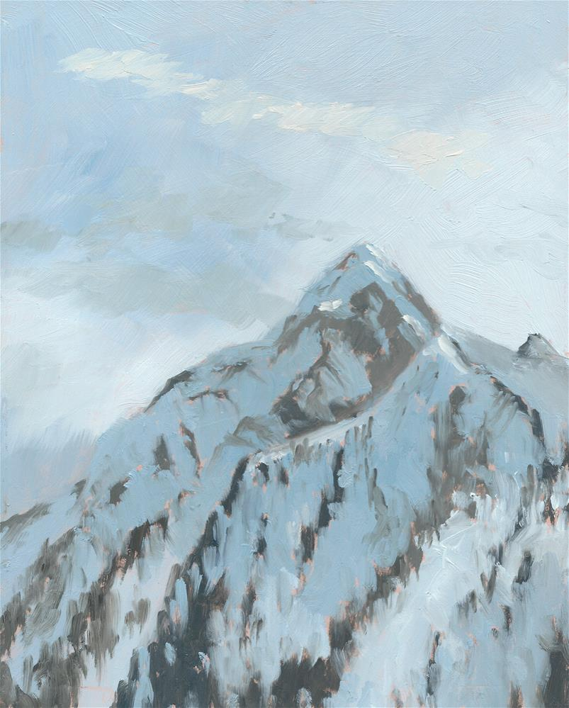 """Kitzsteinhorn, last light."" original fine art by Graham Townsend"