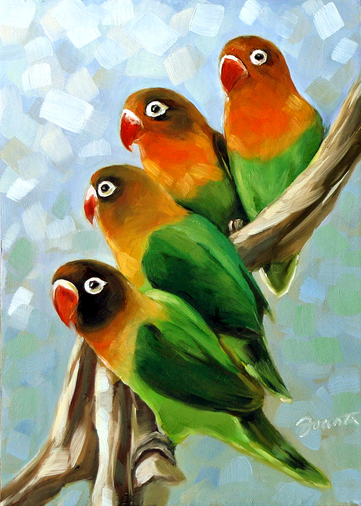 """Love Twitters"" original fine art by Joanna Bingham"