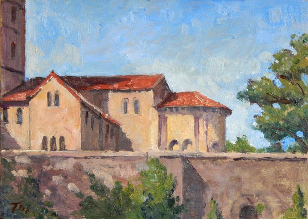 """Morning Light, The Cloisters"" original fine art by Thor Wickstrom"