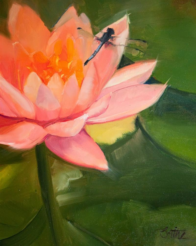 """Lotus Rest by Beth Bathe"" original fine art by Beth Bathe"