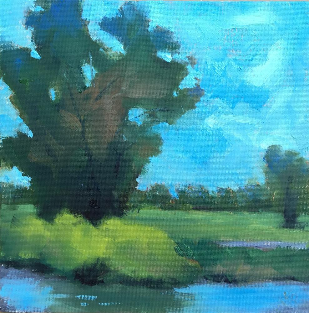 """Tree in the Park"" original fine art by Victoria  Biedron"