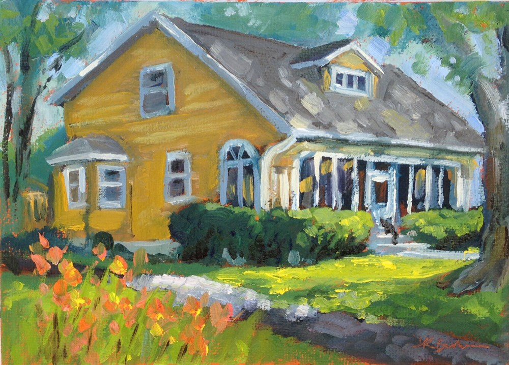 """Lee Avenue Bungalow"" original fine art by Jeanne Bruneau"
