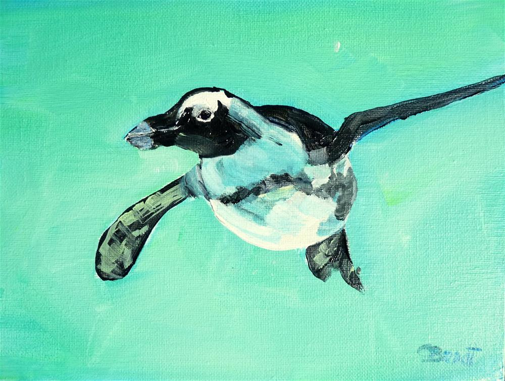 """Penguin nr.2"" original fine art by Claudia Brandt"