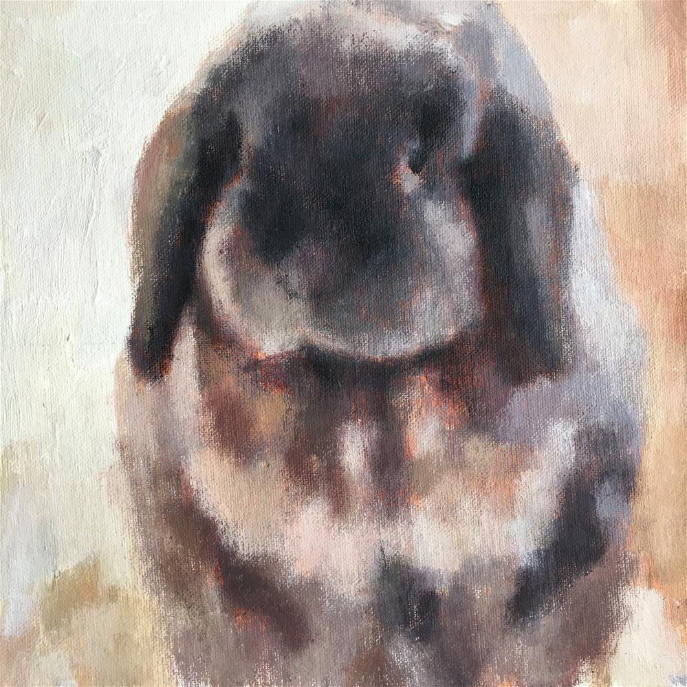 """McDuff the Bunny"" original fine art by Nava Judith"