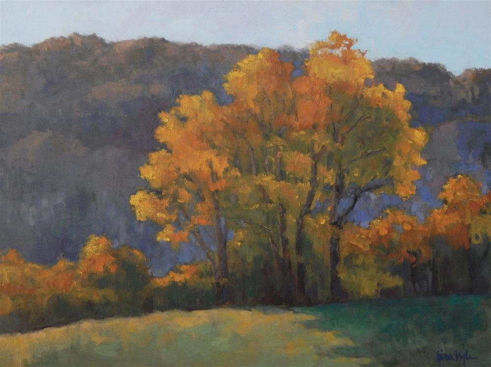 """Autumn Gold"" original fine art by Lisa Kyle"