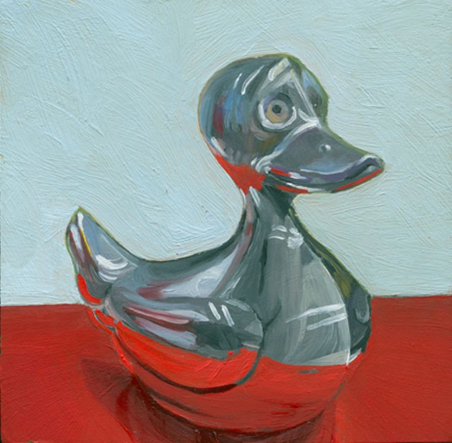 """Chrome Daffy"" original fine art by Jean Wilkey"