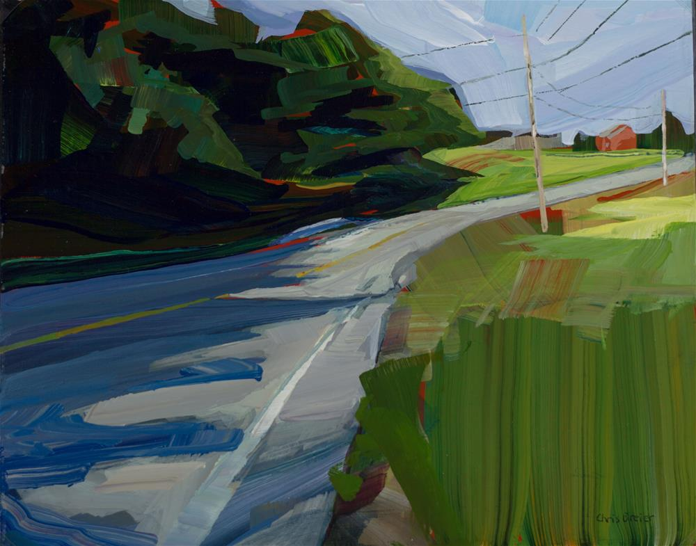 """""""Country Walk"""" original fine art by Chris  Breier"""