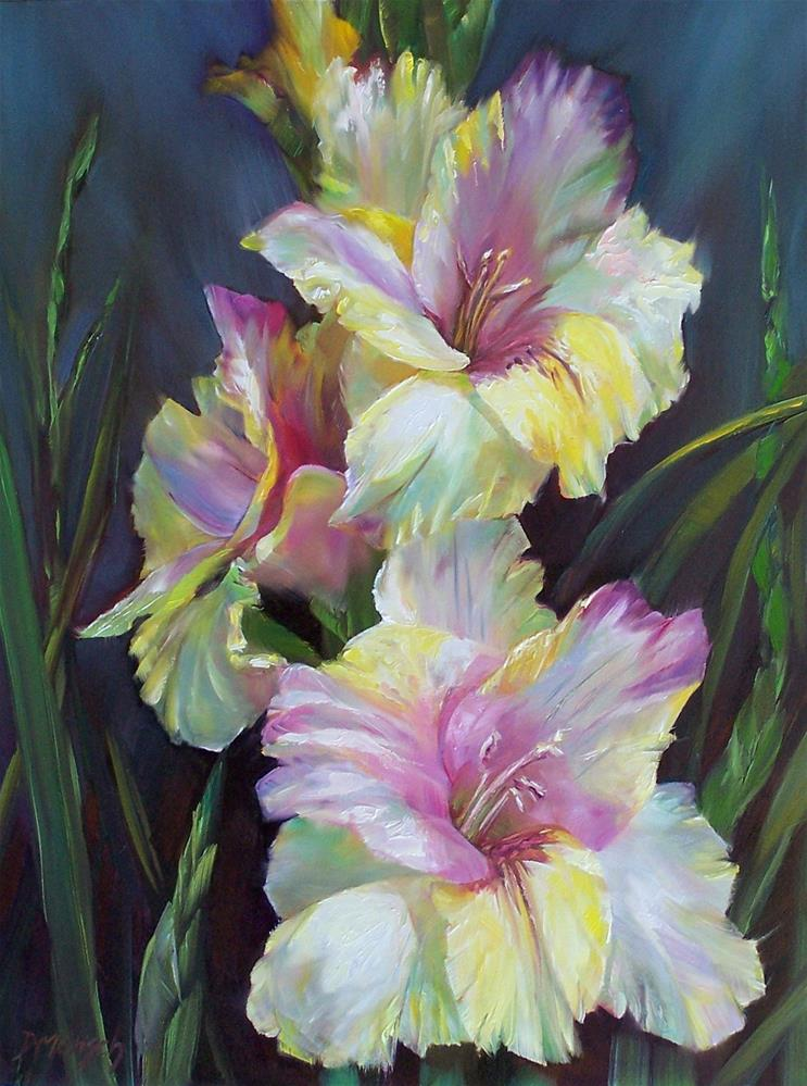 """Gladiolus"" original fine art by Donna Munsch"