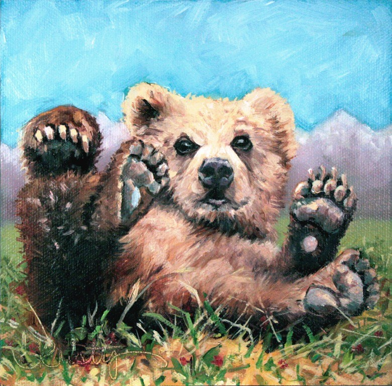 """BABY BRUIN"" original fine art by Kristy Tracy"
