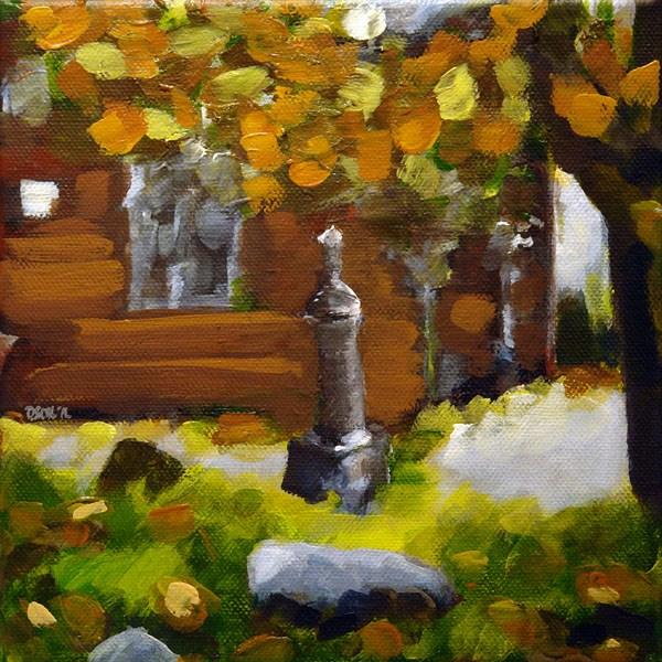 """""""0440 The Churchyard - Der Kirchhof"""" original fine art by Dietmar Stiller"""